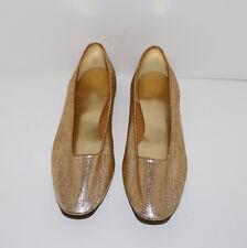 Nite Aires vintage slipper shoes metallic gold 7.5 M
