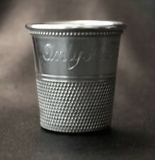 Vintage Charles Thomae STERLING Thimble Shot Glass Jigger