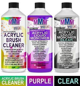 NAIL SCULPTING ACRYLIC LIQUID MONOMER CLEAR / PURPLE / ACRYLIC BRUSH CLEANER