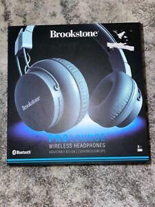 Brookstone prolounge wireless headphones black bluetooth