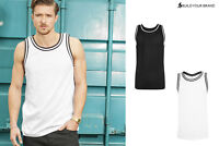 Build Your Brand Men's Mesh Tank Top BY009 - Adults Sleeveless Jersey Vest Top