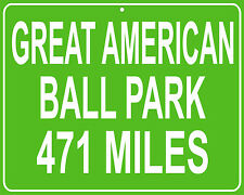 Cincinnati Reds Great American Ball Park mileage sign - distance to your house