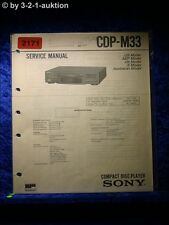 Sony Service Manual CDP M33 CD Player (#2171)