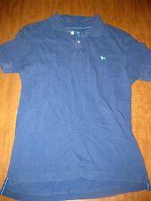 AEROPOSTALE medium blue polo shirt bulldog logo