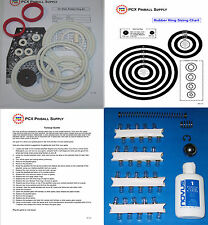 1976 Zaccaria Ten Stars Pinball Machine Tune-up Kit - Includes Rubber Rings!