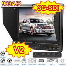 "Lilliput 9.7"" IPS 3G-SDI HD HDMI Monitor 969A/S PEAKING Canon LP-E6 5D Mark III"