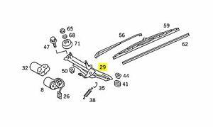 Mercedes Windshield Wiper Linkage Right New OEM W126 EURO Gen. 1 Gen. 2
