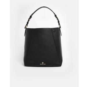 NWT $278 MICHAEL KORS Women Jet Set Leather Lucy Hobo Shoulder Bag Black