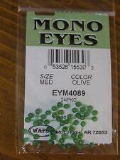 Wapsi Mono Eyes for Fly Tying, size Medium - Olive