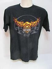 Genuine Harley Davidson Medium Black Flaming Eagle Orlando Fl T Shirt  Item #9D