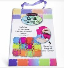 No Sewing Quilt Making Kit Patchwork Blanket Knotting Kit Childrens Craft New