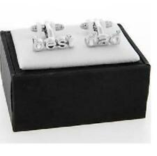 1 Pair of Best Dad Boxed Men's Cuff links