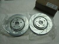 Power Stop JBR1310XR Drilled & Slotted Brake Rotors Pair Left Right Front