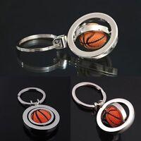 Rotating Basketball Keyring Keychain Ring Key Chain Fob Ball Key