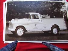 1955 CHEVROLET 3500 FIRETRUCK TEXACO  BEACON LABORATOR 11 X 17  PHOTO /  PICTURE