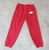 VINTAGE Adidas Flying Hero Sweat Pants Adult Large Red Black Spell Out RARE 80s