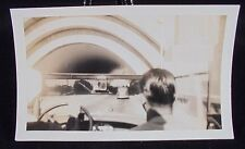 VINTAGE PICTURE FROM INSIDE CAR LOOKING OUT PHOTO PHOPTGRAPH