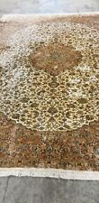 Cachemira seda en seda alfombra