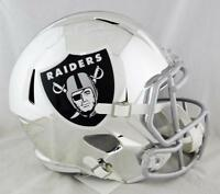 Jerry Rice #80 Autographed Oakland Raiders F/S Chrome Helmet- Beckett Auth *Whit