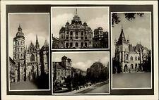 Kosice Großkositz Tschechien s/w Mehrbild AK 1951 gelaufen Dom Theater divadlo