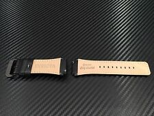 Invicta 24mm Band Black Leather White Stitch Cordoba Square Bell & Ross Models