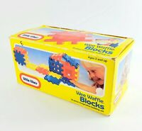 """Vintage Little Tikes Wee 4"""" Waffle Blocks Toddle Tots 1991 with box"""