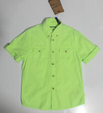 NWT Mayoral Boys' Lime Green Button Down Poplin Pocket Top ~ Size 3