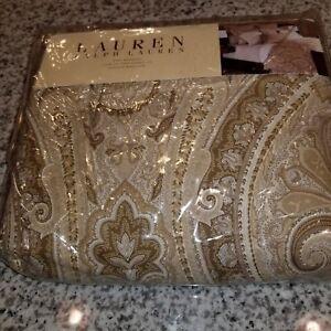 New Ralph Lauren Queen Bedskirt - Desert Spa Paisley Tan