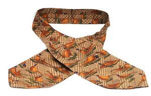 Pheasant Pattern Silk Cravat Neck Tie Mens Game Shooting Gift