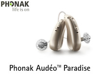 2 Phonak Audeo Paradise P90-Rechargeabe Telecoil hearing aids + MiniChargerCases