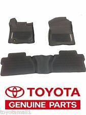 2014-2019 TUNDRA FLOOR MAT LINERS RUBBER ALL WEATHER EXTENDED CAB GENUINE OEM