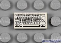 LEGO 2  White Tile 1x2 With Black Police Print Pattern 6522 6540 6386 1895 6533