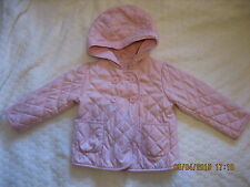 Baby Gap Lovely Pink  Quilted Spring/Summer Lightly Padded Coat Jacket  2T(#090)