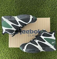 New listing Reebok Kamikaze I 1 Mid White/Black/Racing Green Shawn Kemp Retro Rare sz 10