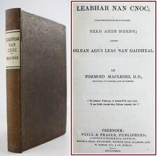 1834*LEABHAR NAN CNOC*1st EDITION*SCOTTISH GAELIC PROSE*NORMAN MACLEOD*ARTICLES*