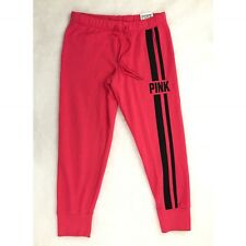 NEW Victorias Secret PINK Gym Pant Sweatpants Slim Fit Red Black Sz S Small NWT