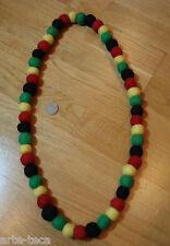 collana lana cotta nepal perle di lana bigiotteria colorata rasta marley affare