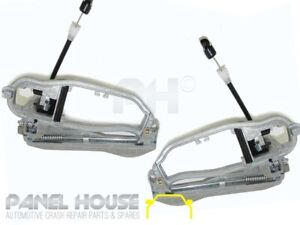 BMW X5 E53 Wagon 00-07 PAIR Front Outer Door Handle Base Carrier PREMIUM QUALITY