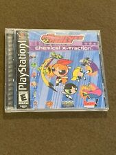 Sony PlayStation PS1 Video Game The Powerpuff Girls Chemical X-Traction Rated E