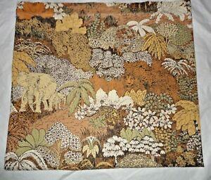 VINTAGE BURLINGTON NAIROBI SAFARI ELEPHANTS KING/CALIFORNIA KING FLAT SHEET