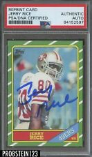 Jerry Rice Signed 1986 Topps RC Retro PSA/DNA Certified AUTO REPRINT