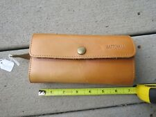 vintage Battenkill fly fishing fishing lure leather pouch (Lot#12638)