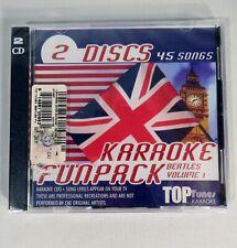 New Nos Beatles Songs Karaoke Cd+G Fun Pack 45 Songs 2 Discs (Sealed)