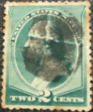 Scott #213 US 1883 George Washington Fancy Cancel Postage Stamp XF LH