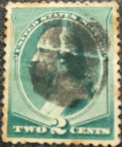 Scott #213 US 1883 George Washington Fancy Cancel Postage Stamp XF LH