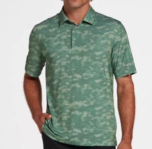 Walter Hagen Golf Polo Mens Small Authentic Folds of Honor Green Camo Printed