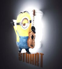 Minions Despicable Me Stuart 3D FX LED Child's Bedroom Battery Night Light