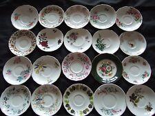 Job lot of 10 Vintage Mismatched China Saucers