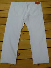 Levis 501 BIG AND TALL 46x 32  Original fit Button Fly Jeans WHITE EUC NO STAINS