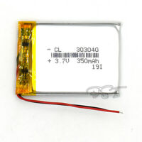 3.7v 350mAh Battery Rechangeable Li-ion Lipolymer for MP3 MP4  Toy Reader 303040